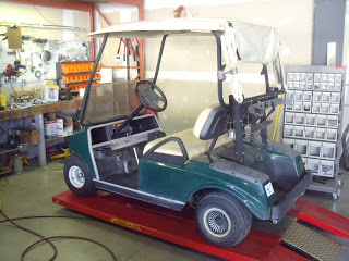 Here is the donor cart, 2003 DS electric, we will converting to a gas cart