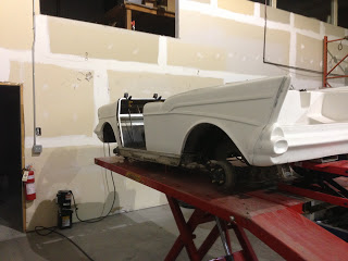 Fitting the Belair body on to see what we have for clearance