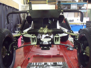Here we have installed the steering box