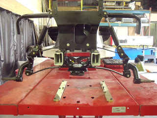 """The front end all installed with the 6"""" drop spindles"""