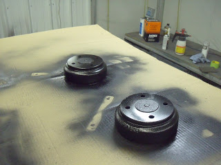 We even refinished the brake drums; these were sanded and painted in factory black.