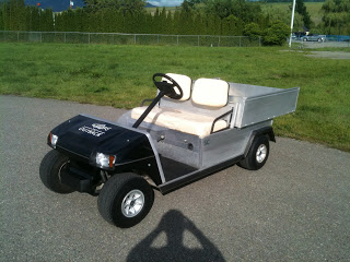 This golf cart included a new headlight package