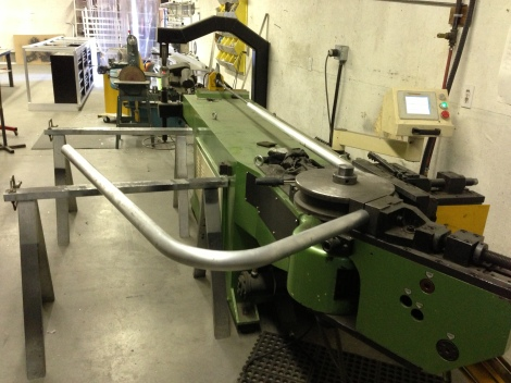 Now that the first bend is complete and matches our computer design we are able to move onto the second bend. It is critical that this bend is correct or the roll bar won't line up for the the final bend and this part will be scrap.