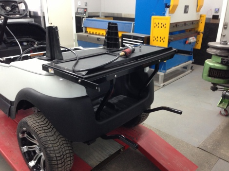 Here we are part way through a rear seat installation. These kits are completely bolt on with no modifications needed.