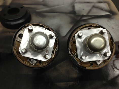 Here are both rebuilt  spindle assemblies, ready to be reinstalled onto the cart.