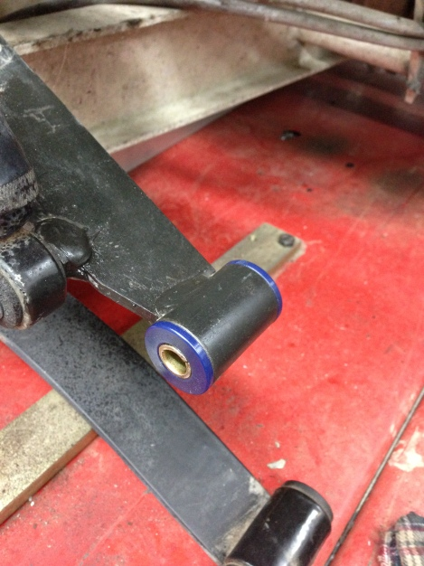 Here is a picture of the new upper bushings in place. This will ensure everything is nice and tight upfront.