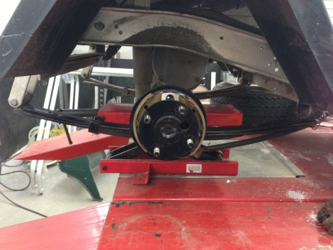 After a thorough cleaning and inspection, we were able to install new brake pads.