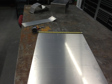With the roof insert sheared to the correct width we are able to measure it for bending.