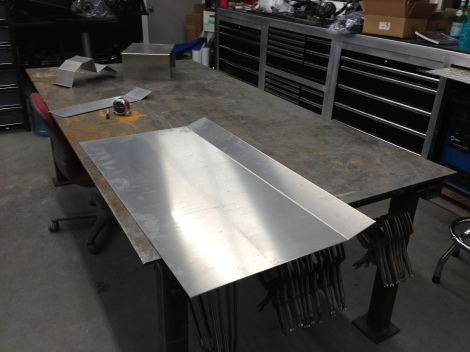 Just like that we now have a bend in the aluminum. This will provide us strength to avoid the roof oil canning and also finishes nicely with the cross tube.