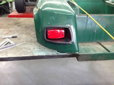 Here is the rear light being test fit, fits great!