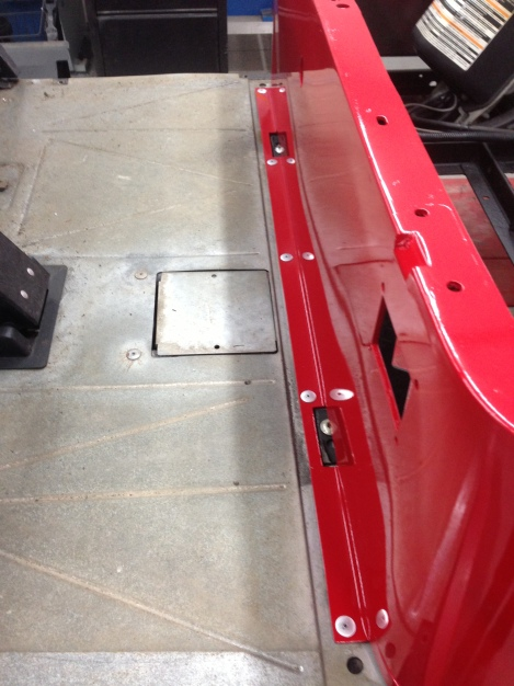 Notice that we went with large headed rivets, this provides more surface area to ensure the body stays secured.
