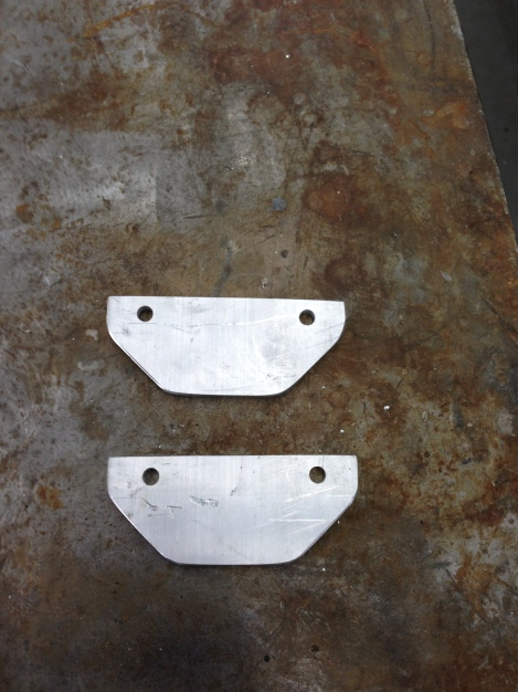 We then cut and drilled the pieces and made them into brackets.
