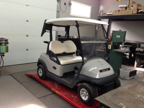 Like all of our builds we are starting out with our favorite Club Car Precedent. This is one of the 2010's that just arrived in our last large shipment of carts.