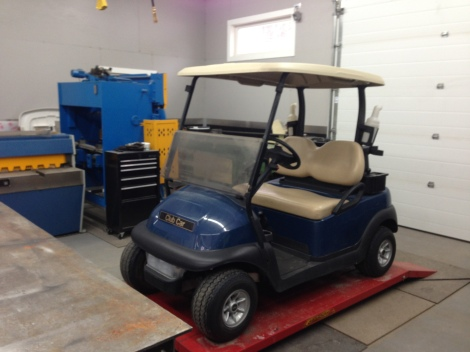 It doesn't look much like a Harley-Davidson right now, but just wait as we transform this 2012 Precedent into one cool cart!