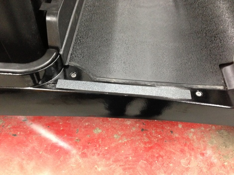 We then installed a strip of grip tape on the top side of each rocker panel.