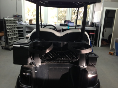 Here is from the rear of the cart, you can see how factory the rear seat cover looks.
