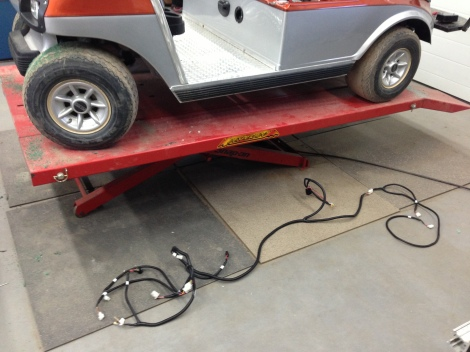 Here is one of two harnesses, there are quite a few feet of wire in these buggies!