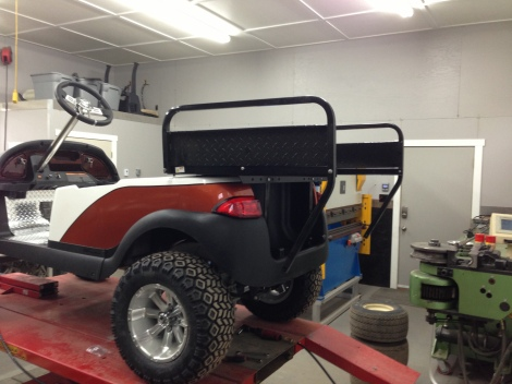 The customer wanted the rear flip seat that turns into a functional box, and that makes a lot of sense!