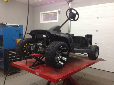 "Time to class this custom buggy up with a nice 12"" wheel and tire package."