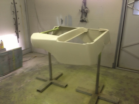Here we are with the body prepped and ready for paint.