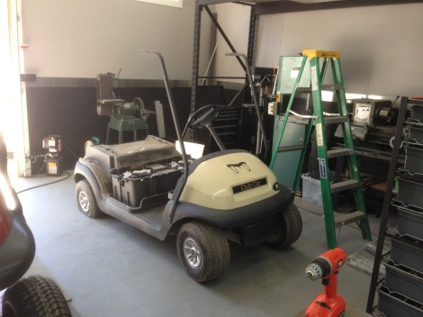 Here we begin the tear down, rotating between both carts in a production format.