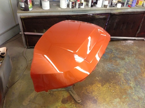 Here is the front cowl, the deep gloss really makes the Club Car Precedent cowling shine.
