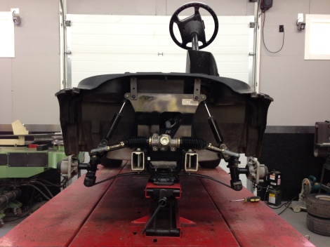 We have the front end inspected and it is ready for the custom wheel package.