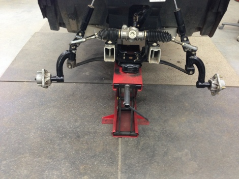 "We installed the 6"" drop spindle lift kit built specifically for the Club Car Precedent."