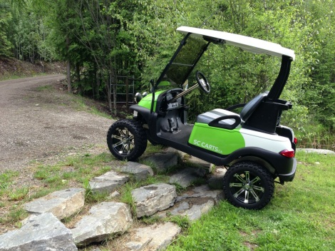 "It always amazes us the capability of these customized ""golf"" carts!"