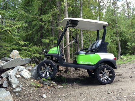 The ground clearance makes these carts the ideal off road touring machine!
