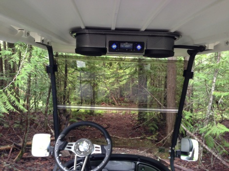 Here is a drivers POV, with the tunes providing some background noise, it was off into the bush.