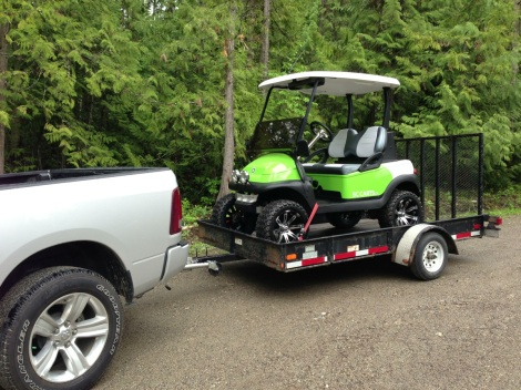 As quick as this spec cart was built, it was off to it's new home. The new owners are from NWT and have a resort property at La Casa Lake Resort!