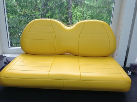 What John Deere machine would be complete without a yellow seat! This custom upholstery will suit this machine perfectly.