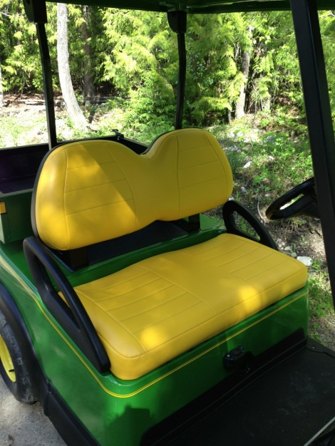 We added some green stitching to the seats to give them a bit more of a custom look.