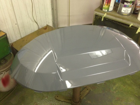 Here is the Precedent in the custom Audi TT color with the clear coat on, looks awesome!