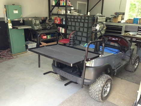 With the flat deck open it makes these carts so versatile. Haul people, haul gas cans, wood whatever you want, these electric SC Carts can handle it.
