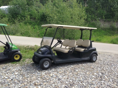 Here is the 2012 Club Car Precedent factory demo cart.