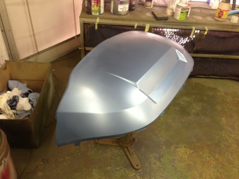 Here's the front Club Car cowling in the metallic base coat.