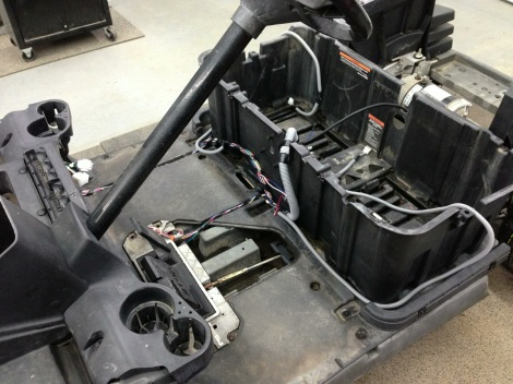 We installed a brand new OEM Club Car Precedent wiring harness.