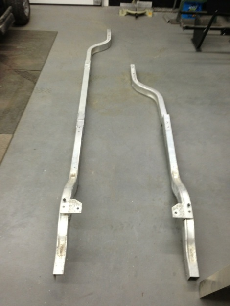 Here you can really see the difference between the factory Club Car frame and a Stretched Club Car frame.