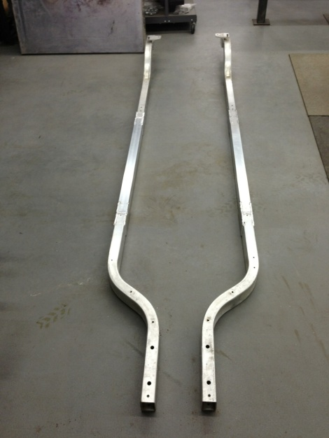 Here they are! Both Precedent frame rails welded and ready for the SC Carts stretch build.