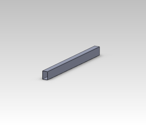 Because we plan on building many more of these SC Carts Stretch carts we have decided to 3d model the parts in our Solidworks software and then blueprint them to ensure we get perfect parts each time. Here you can see one of the frame rail extensions.