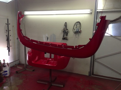 Here is a picture of the Club Car Precedent front body surround and the rear underbody in the back ground.