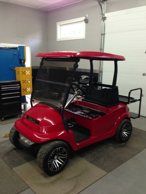 We installed a new tinted windscreen at the same time we installed the OEM Precedent roof. This is one sharp cart!