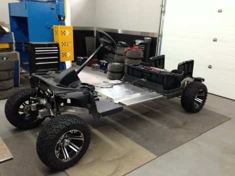 Now here is a monster of a Club Car! This is going to be one bad buggy!