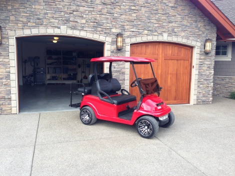 What can we say about this amazing cart! Not much the picture says it all. This belongs to one of our great customers from Predator Ridge Golf Resort. This custom electric Precedent never sees the fairways, just the restaurant and spas!