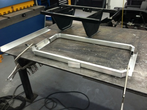 Here is the first portion of the Club Car Precedent  front seat frame.