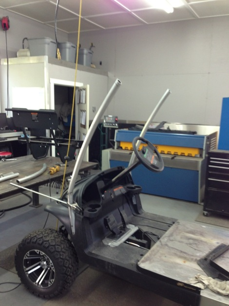 We duplicated it on both sides ensuring that it would look proper on the Club Car.