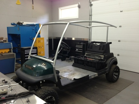 Here is the Club Car Precedent stretch roof!