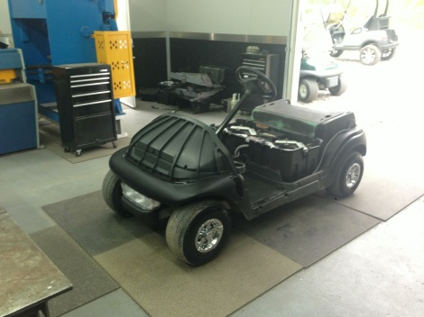 This cart was ordered with a light kit, after the light kit installation we installed the underbody components.